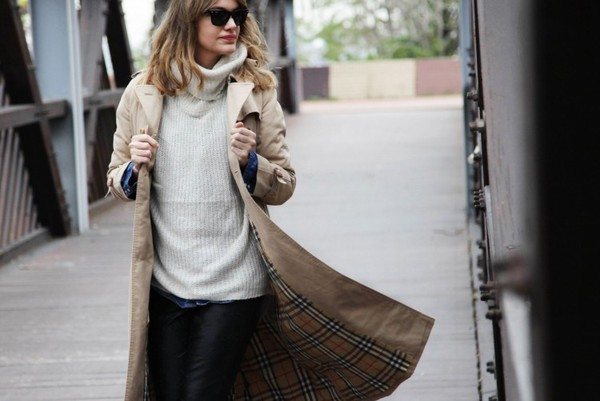 my daily style coat shirt sweater pants bag shoes