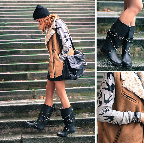 coat swallow summer boots stud sweater hat shearling line wistcoat multiple shoes