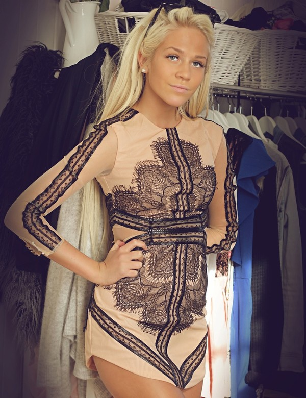 dress naked embroidered blonde hair beautiful high-low dresses