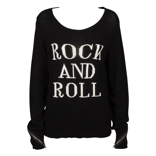 Rock & Roll Sweater - The Cassette Society - Polyvore