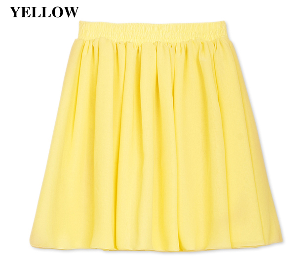 New Women Girl Retro High Waist Double Chiffon Short Skirt Mini Dress 8 Color O | eBay