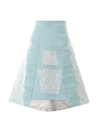 Orchid-embroidered A-line skirt | Peter Pilotto | MATCHESFASHI...