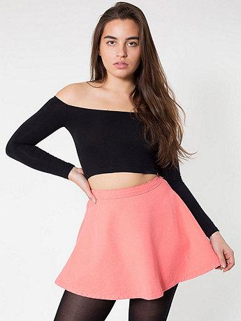 Natural Denim Circle Skirt   American Apparel