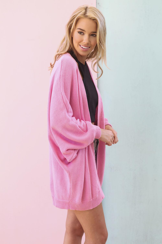 SABO SKIRT  Batwing Cardi - Candy Pink - Pink - 58.0000