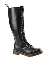 Shoes   Boots    120-Eye Leather Boots   Lord and Taylor