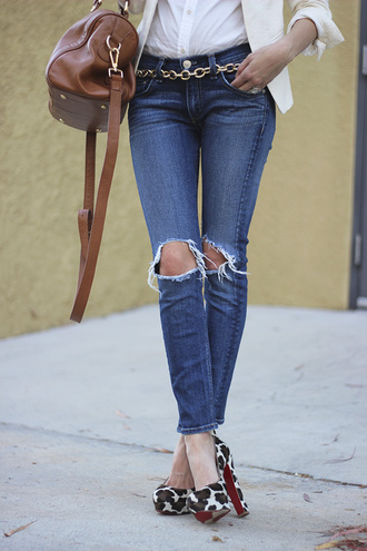 frankie hearts fashion blogger jacket jeans sunglasses bag