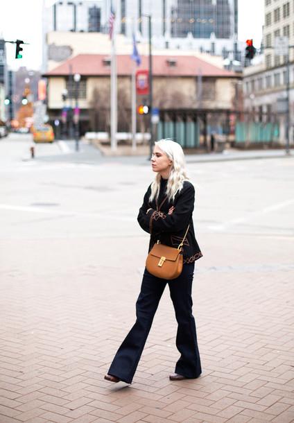always judging blogger bag wide-leg pants