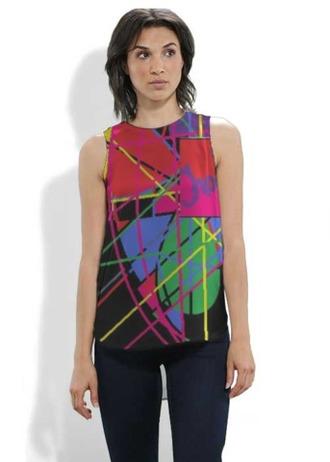 top designer top vidid silky tops traci k collection