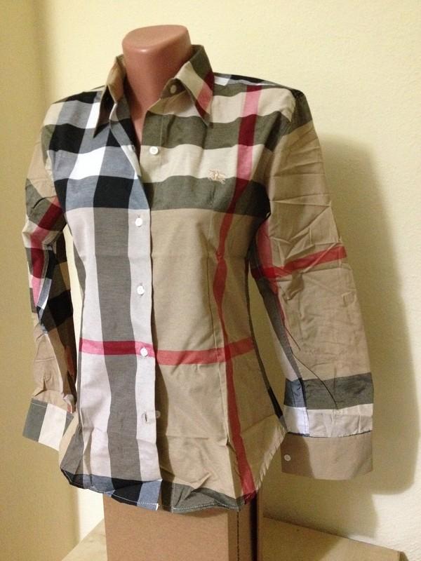 Shirt women shirt nova check burberry women wheretoget for Ladies brown check shirt
