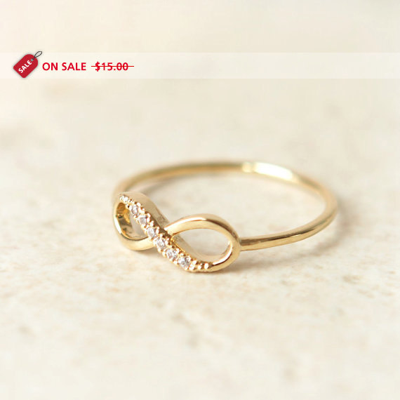 ON SALE  Infinity Ring in gold by laonato on Etsy