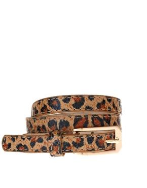 ASOS | ASOS - Ceinture fine à imprimé léopard chez ASOS
