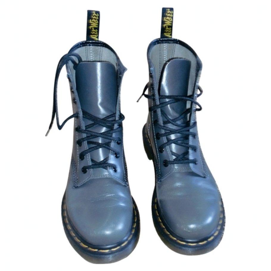 Doc martens pour comptoir des cotonniers DR. MARTENS Grey size 37 EU in Leather All seasons - 27310