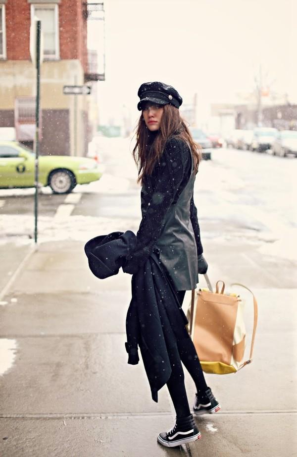 natalie off duty sweater dress coat shoes
