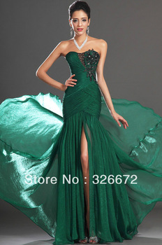 free shipping 2014new arrival Floor Length Emerald Green Mermaid Prom Dress Evening Gown-in Prom Dresses from Apparel & Accessories on Aliexpress.com