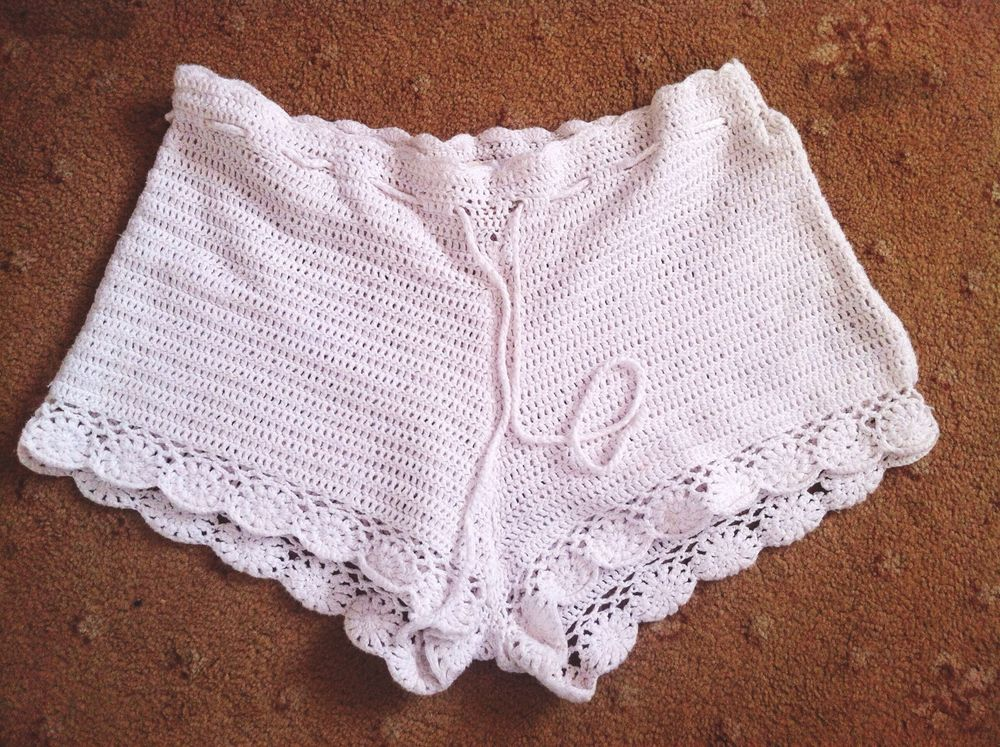 H&M Conscious Collection Crochet Shorts. Size Uk 10/Us 6. | eBay