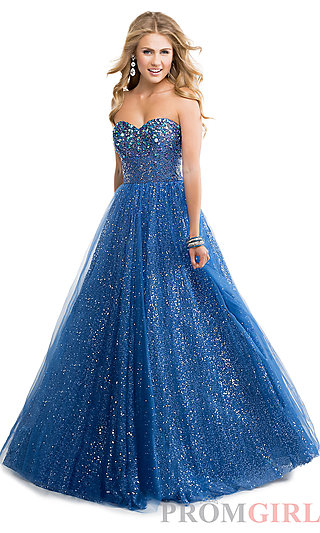 Prom Dresses, Celebrity Dresses, Sexy Evening Gowns - PromGirl: Strapless Sequin Embellished Ball Gown
