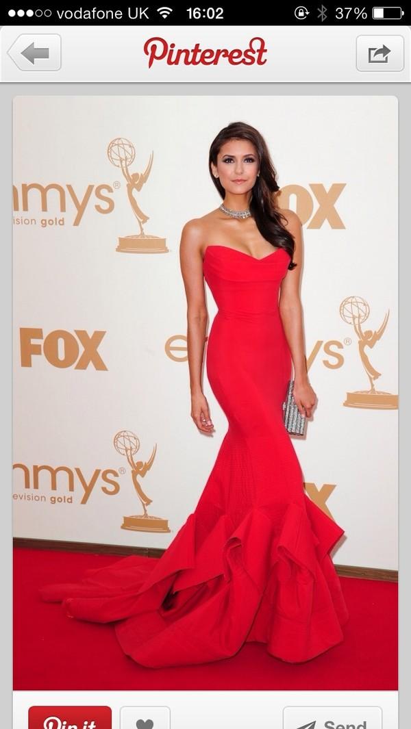 dress red evening dress