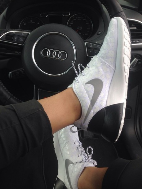 shoes nike sneakers nike free run nike white roshes