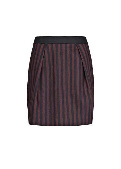 MANGO - CLOTHING - Skirts - High-waist striped miniskirt