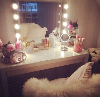 home accessory makeup table girly bedroom
