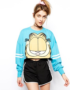 Lazy Oaf | Lazy Oaf X Garfield Cats Don't Jump Sweatshirt at ASOS