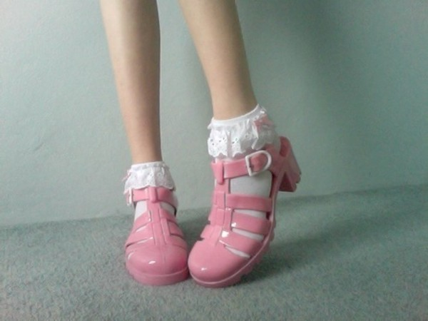 shoes pink jellies