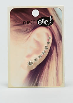 Crystal Chain Cuff Earring | Earrings | rue21