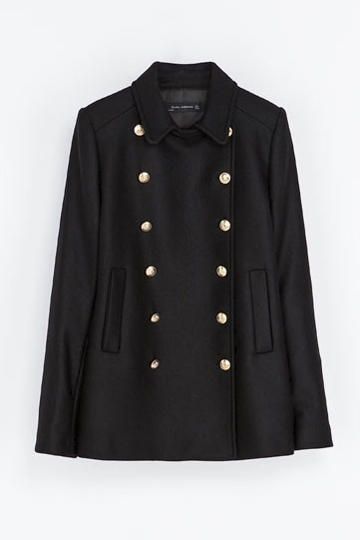 Double-breasted Coat with Pockets in Black [FEBK0207]- US$59.99 - PersunMall.com
