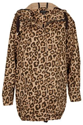 Leopard Ovoid Parka Jacket - Topshop