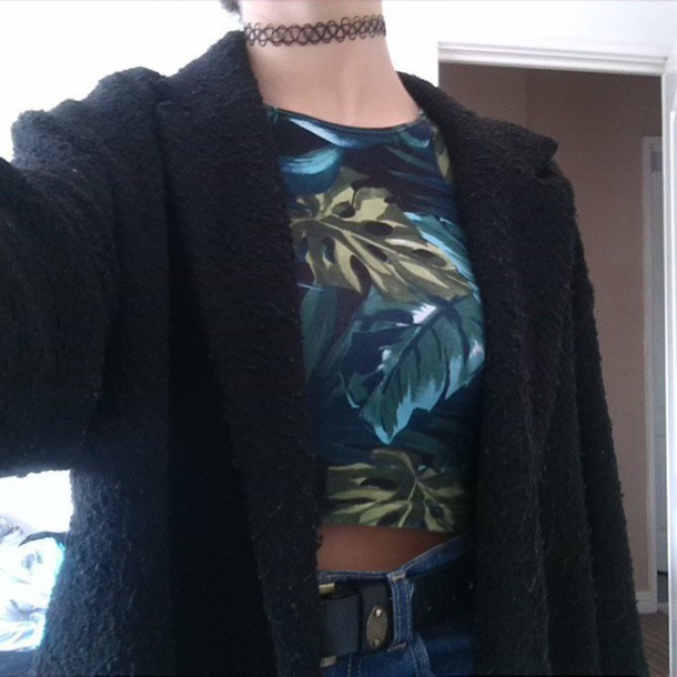 top crop tops cropped jungle hat style tumblr outfit tumblr shirt