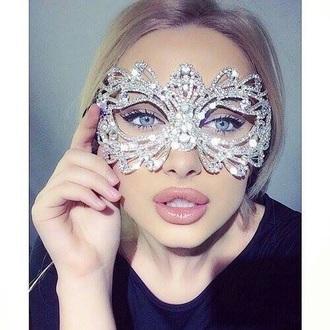 jewels rhinestones masquerade mask prom