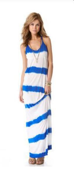 dress striped dress spagetti staps dresses