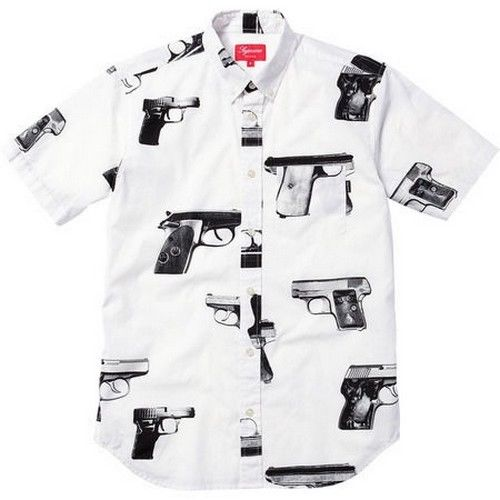 Supreme Guns Shirt White XL Box Logo 2012 Safari Camp Cap Kate Moss s s 13 | eBay