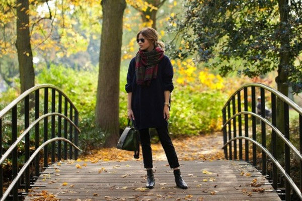 fash n chips sweater pants scarf shoes bag jewels sunglasses