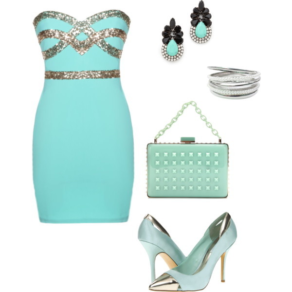 dress mint bag shoes jewels