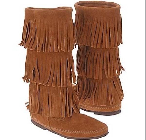 shoes fringes boots