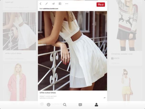 dress white cutout dress