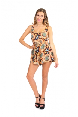 Sunflower Jumpsuit - Womens Clothing Shop Online - Evolution Clothing - Tops, Dresses, Skirts, Cardi, Fashion NZ