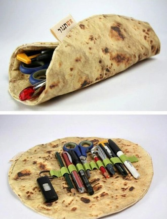 home accessory pencil case back to school stationary wrap food funny burito tumblr outfit amazon pita