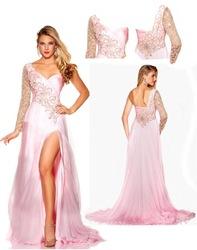 Un  novia línea uno debe de gasa 30d charmseuse y con cristal brillo de deslizamiento detalles 2013 fronda de