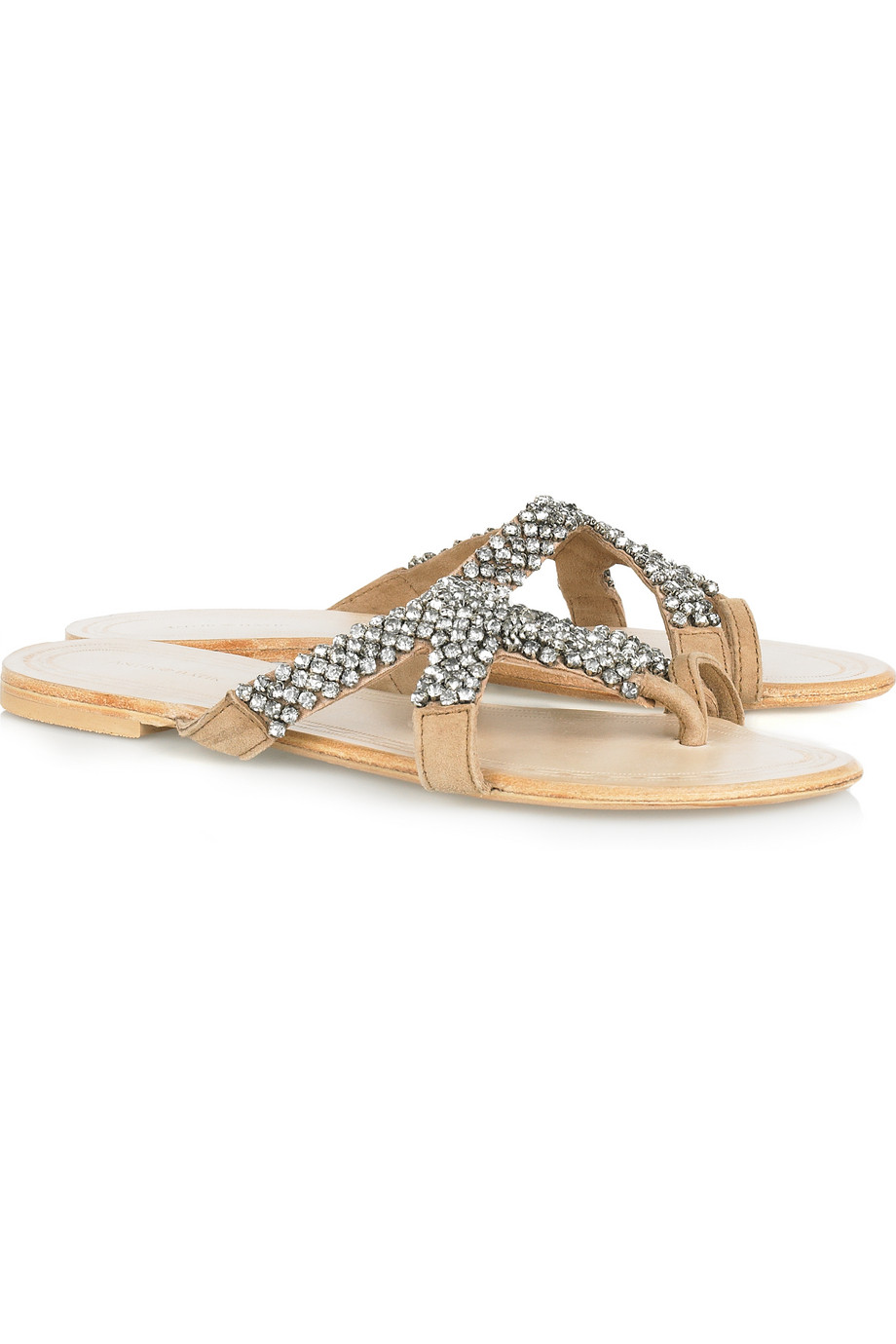 Crystal-embellished leather sandals  | Antik Batik | THE OUTNET