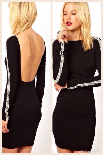 dress fashion style black bikini