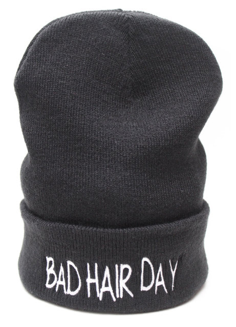 Bad Hair Day Beanie Hat by TeeIsland on Etsy