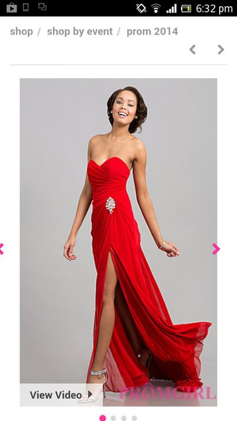 dress red prom dress red gown