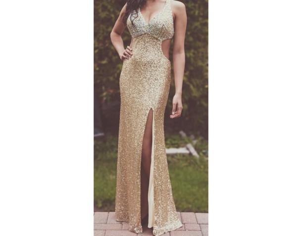 dress gold dress gold prom dress sequin dress prom dress