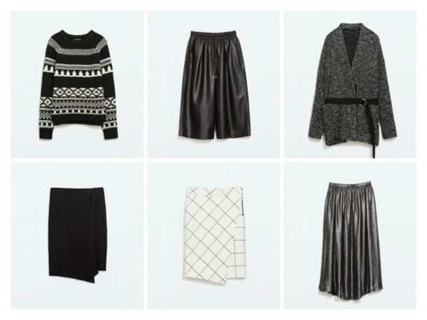 ohh couture blogger cardigan culottes charcoal asymmetrical