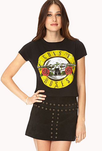 Guns & Roses Crop Top | FOREVER 21 - 2000073194