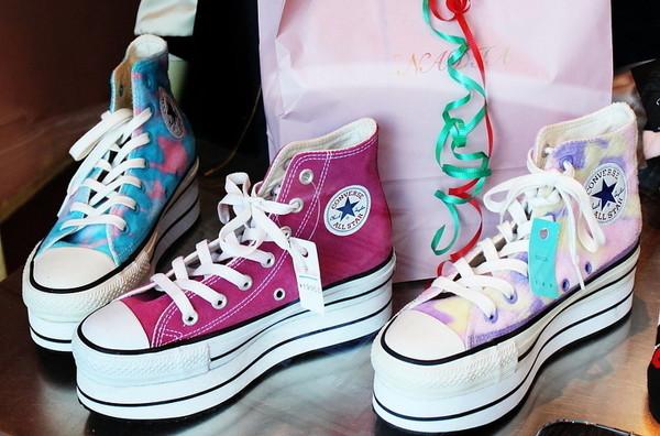 shoes platform shoes converse pink sneakers
