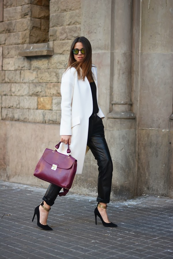 fashion vibe pants shoes t-shirt sunglasses coat bag