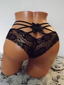 OMG Hot Hot Hot Sexy Bow Tie Criss Cross Lace Panties Small Gorgeous | eBay